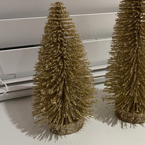 Crate & Barrel- gold bendy, wired tree